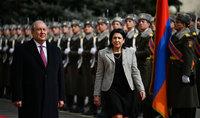 Հանրապետության նախագահի նստավայրում տեղի է ունեցել Վրաստանի նախագահ Սալոմե Զուրաբիշվիլիի հրաժեշտի արարողությունը