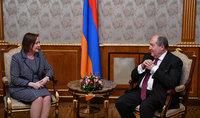 Президент Саркисян встретился с временным поверенным в делах Канады в Армении