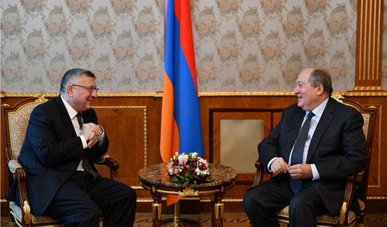 Президент Саркисян принял сопредседателя Армянской Ассамблеи Америки