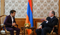 President Sarkissian hosted Levon Aronian: Your each victory makes us proud
