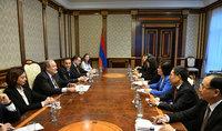 Արմեն Սարգսյանն ընդունել է ՉԺՀ Ժողովրդական ներկայացուցիչների համաչինական ժողովի մշտական կոմիտեի նախագահի տեղակալի պատվիրակությանը