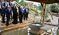 Նախագահ Սարգսյանն այցելել է Հորդանան գետի ափին գտնվող Հիսուս Քրիստոսի մկրտության վայր