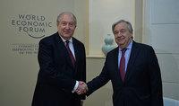 Նախագահ Սարգսյանը հանդիպել է Միավորված ազգերի կազմակերպության գլխավոր քարտուղար Անտոնիո Գուտերեշի հետ