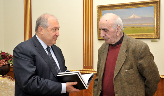 President Armen Sarkissian hosted the RA People's Artist, great master of cinema art Artavazd Peleshian