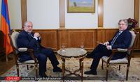 """Эксклюзивное интервью президента Саркисяна для """"CivilNet"""""""
