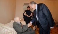 Вместе будем отмечать твоё 100-летие – Президент Армен Саркисян побывал в гостях у 99-летнего ветерана войны