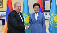 Հայաստանի ու Ղազախստանի միջև փոխգործակցությունը խորացնելու մեծ ներուժ կա. նախագահը հանդիպել է Դարիգա Նազարբաևայի հետ