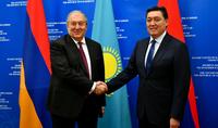 Казахстан заинтересован в углублении экономических связей с Арменией – Президент встретился с Премьер-министром Казахстана