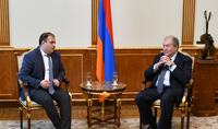 President Sarkissian met with the leadership of the Heritage political party