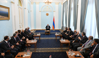 Unity through Sport: President Armen Sarkissian received delegation of the World Committee of the Pan-Armenian Games