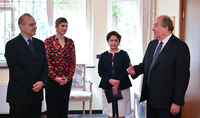 President Armen Sarkissian and Mrs. Sarkissian visited the Embassy of Italy in Armenia on the occasion of Republic Day