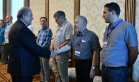 Նախագահ Արմեն Սարգսյանը հյուրընկալել է մի խումբ ֆիզիկոս գիտնականների