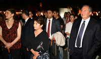 President Armen Sarkissian and Mrs. Nouneh Sarkissian visited the installation of the Italian artist Daniele Spano