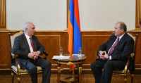 President Armen Sarkissian received representatives of the Democratic Party of Armenia