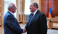 Նախագահ Արմեն Սարգսյանը հյուրընկալել է ՀԲԸՄ նախագահ Պերճ Սեդրակյանին