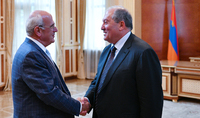 President Armen Sarkissian hosted the President of the Armenian General Benevolent Union Berge Setrakian