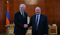 President Armen Sarkissian met with the former Prime Minister of France Dominique de Villepin