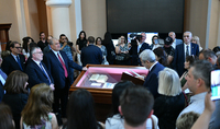 """""""Three Armenian Manuscripts from Toscana"""" Exhibition has opened in Matenadaran with the participation of the President: Manuscripts whose home is not only Matenadaran but also the Medici Library"""