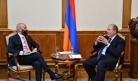 President Armen Sarkissian discussed with the Director of the 3Sixty Strategic Advisors company prospects of developing tourism in Armenia