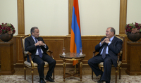 President Sarkissian met with the former CEO of Électricité de France and Veolia Henri Proglio