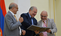 President Armen Sarkissian handed RA Presidential Awards: Today we are creating a new page of our history