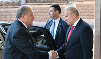 On the occasion of Russia's Day, President Sarkissian visited the Embassy of the Russian Federation in Armenia