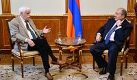 Президент встретился со знаменитым учёным и изобретателем Реймондом Дамадяном
