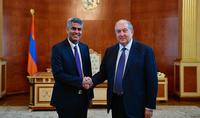 Президент Армен Саркисян провёл прощальную встречу с послом Индии в Армении