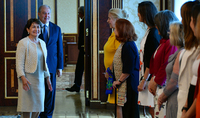 Delegation of the female entrepreneurs from Argentine at the Presidential Palace: Women can make an input in building and fortifying bridges