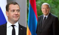 Президента Саркисяна поздравил Председатель Правительства Российской Федерации Дмитрий Медведев