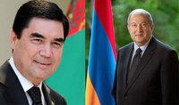Президента Армена Саркисяна поздравил Президент Туркменистана Гурбангулы Бердымухамедов
