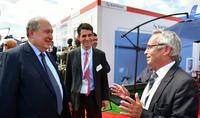 Президент Армен Саркисян в Ле-Бурже посетил павильон французской авиакосмической компании Safran