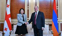 Всегда готова способствовать укреплению сотрудничества наших стран – Президент Грузии Саломе Зурабишвили поздравила Армена Саркисяна