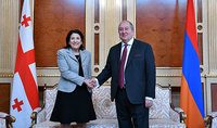 President of Georgia Salome Zurabishvili congratulated President Armen Sarkissian: Always ready to support the strengthening of cooperation of our two countries