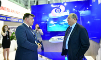 President Sarkissian was hosted at the pavilion of the Russian United Aircraft Corporation in Le Bourget