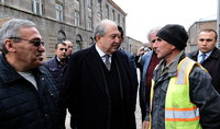 Working visit of the President Armen Sarkissian to Gyumri