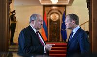Հայաստան-ԵՄ հարաբերությունները զարգացման մեծ ներուժ ունեն. նախագահ Արմեն Սարգսյանն ընդունել է Եվրոպական խորհրդի նախագահ Դոնալդ Տուսկին