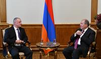 President Armen Sarkissian received representatives of the Marriott International