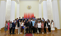 President Sarkissian hosted Diaspora children who are in Armenia in the framework of AGBU program: Feel not only home here but also become part of our nation, our country