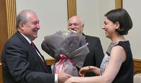 President Armen Sarkissian hosted the world-famous soprano Hasmik Grigorian