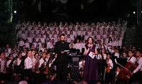 President Sarkissian was present at the concert of the young performers Yerevan orchestra