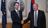 President Armen Sarkissian visited the Embassy of France in Armenia on the occasion of National holiday