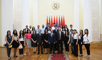 President Sarkissian received students of the School of Liberal Policies: To have a vision, a strategy, a plan of action - this is the way for development