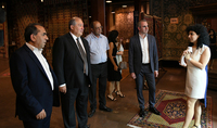 President Sarkissian visited today the Megerian Carpet company