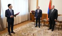 В Резиденции Президента состоялась церемония клятвы Министра юстиции РА