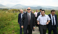 Working visit of the President Armen Sarkissian to Lori