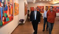 """Президент Саркисян посетил выставку Нарека Аветисяна """"Джаджурские полотна"""""""