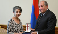 President Armen Sarkissian received the composer Marine Ales