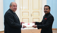 Newly appointed Ambassador of India presented his credentials to the President of Armenia