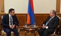 President Armen Sarkissian received Ombudsman of Armenia Arman Tatoyan
